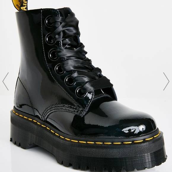 patent leather dr martens